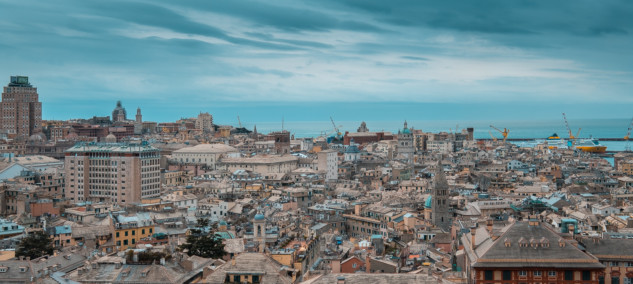 View on the rooftops of the city from the Belvedere Castelletto